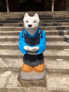 桃太郎神社腰が低い犬